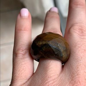 Natural Stone Domed Ring